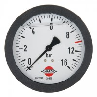 Hardi, manometer  s rozsahom merania  0 - 16 bar,   Ø 100 a 65 mm
