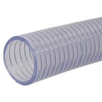 PVC sacia a tlaková hadica číra so špirálou z oceľového drôtu