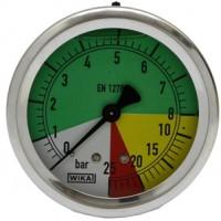 Wika,  manometre so zadným pripojením, Ø 63 (mm)
