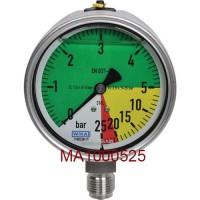 Wika manometre, spodné pripojenie závitom,  Ø 100 mm
